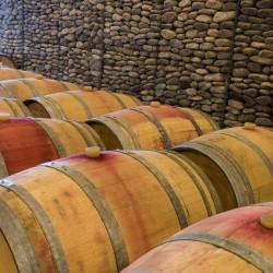 vina-las-ninas-winery-oak-barrel-stones